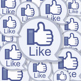 Like Background. Express like comments on social network media royalty free illustration