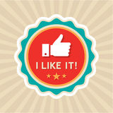 Like Badge. In vector format Stock Photography