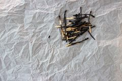 Burnt out matches royalty free stock photography