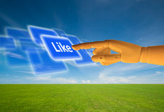 Like button Royalty Free Stock Photo