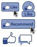 Like Button stock illustration