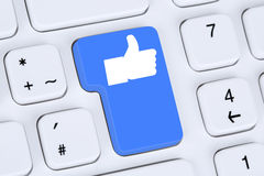 Like button icon symbol thumb up social media or network interne