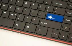 Like button keyboard concept Stock Photo