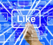 Like Button Showing Approval And Being A Fan 3d Rendering royalty free stock image