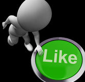 Like Button Shows Approval Or Being A Fan Royalty Free Stock Image