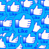 Like buttons. Blue text balloons with Facebook-like LIKE buttons Stock Photography