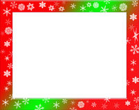 Like candy. Winter frame Snowflake theme Stock Photo