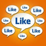 Like Chat Bubble Conversation on Orange Royalty Free Stock Photo