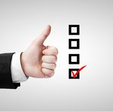 Like and checklist Stock Photo