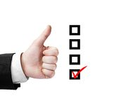 Like and checklist Royalty Free Stock Photography