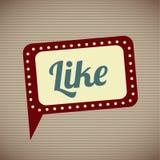 Like comic icon Stock Image