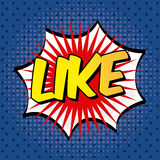 Like comic icon Royalty Free Stock Images