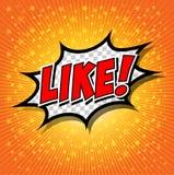 LIKE ! Comic Speech Bubble, Cartoon. Stock Photos