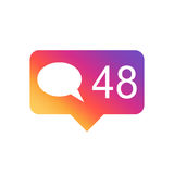 Like, comment, follower icon Royalty Free Stock Images
