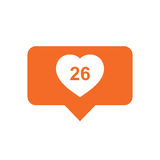 Like, comment, follower icon. Royalty Free Stock Photos