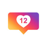 Like, comment, follower icon. Stock Photo