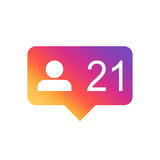 Like, comment, follower icon Royalty Free Stock Photos