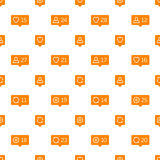 Like comment follower icons background. Royalty Free Stock Image