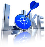 Like. 3D rendering of an like symbol Royalty Free Stock Images