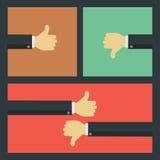 Like and dislike business concepts Stock Photo