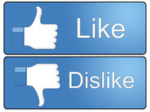 Like and Dislike Button Stock Photos