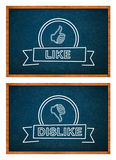Like and Dislike button Royalty Free Stock Image