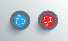 Like and dislike buttons vector illustration