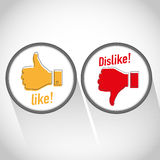 Like dislike. Concept abstract background Stock Photos