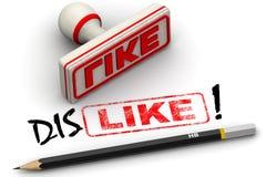 Like and dislike. Corrected seal impression Stock Photo