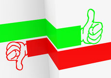 Like or dislike. 3d generated picture of a like or dislike concept stock illustration