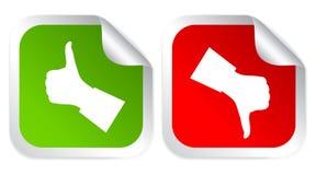 Like dislike icon. Like and dislike voting stickers illustration Royalty Free Stock Photos