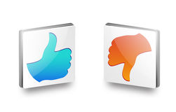Like And Dislike Icon. With eps file Stock Photography