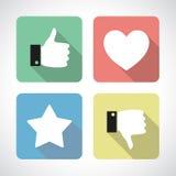 Like and dislike icons set Royalty Free Stock Photos