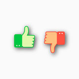Like and dislike icons set Royalty Free Stock Photos