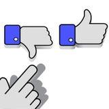 Like and Dislike. Mouse click on the like or dislike wants Stock Image