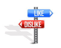 Like and dislike sign Stock Photos