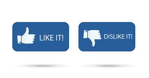 Like it and dislike symbol button isolated Royalty Free Stock Images