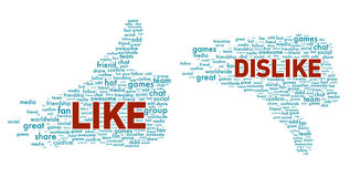 Like and dislike symbol isolated Stock Photos