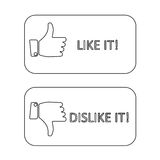 Like it and dislike symbol line style button isolated Stock Photo