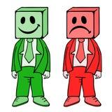 Like and dislike symbols. Creative design of like and dislike symbols Royalty Free Stock Photo