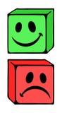 Like and dislike symbols. Design of like and dislike symbols Stock Photos