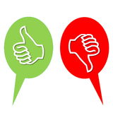 Like and dislike vote. Colorful like and dislike vote icons in white background Royalty Free Stock Image