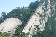 Like the Dragon on the Chinese Huashan mountains. This mountain is the same as the dragon refers to a blade-shaped ridge on the Mountain, is one of the famous Stock Photography