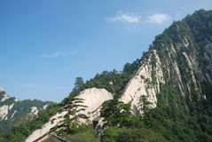 Like the Dragon on the Chinese Huashan mountains. This mountain is the same as the dragon refers to a blade-shaped ridge on the Mountain, is one of the famous Royalty Free Stock Photos