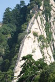 Like the Dragon on the Chinese Huashan mountains. This mountain is the same as the dragon refers to a blade-shaped ridge on the Mountain, is one of the famous Stock Images