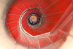 Like a dream abstract spiral staircase with moving steps and the Stock Photos