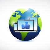 Like electronics and globe illustration design Stock Photos