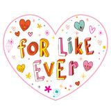 For like ever heart shaped design Royalty Free Stock Photo