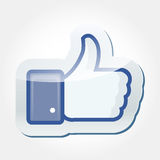 Like Facebook Button. Like buttons isolated on bright background