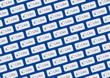 Like Facebook logo wall Stock Photography